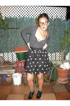 H&M skirt - H&M shirt - vintage glasses - socks