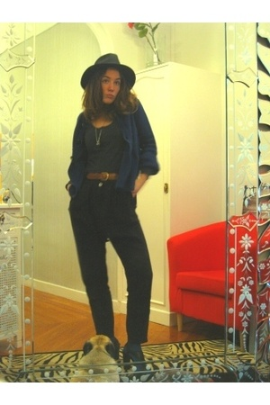 earrings - H&M shirt - vintage belt - - hakei