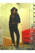 earrings - H&M shirt - vintage belt - - hakei