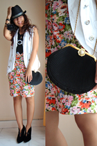 Topshop skirt - accessories - hat - vest - Gap top