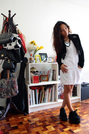 jacket - shoes - dress - necklace