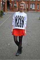 red Topshop sweatshirt - Topshop skirt