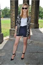 Topshop blazer - Topshop shorts - Zara heels