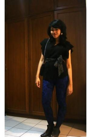 ellen darsana blouse - arena leggings - random brand tights - candyfeet boots -