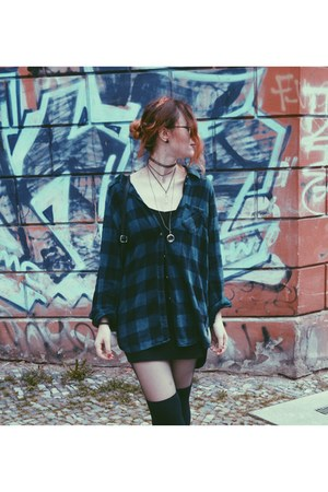 H&M boots - flannel H&M shirt