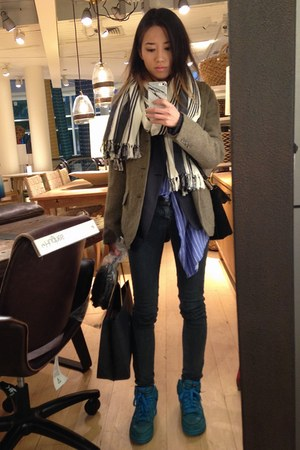 villager shirt - Trex Vintage jeans - Elie Tahari jacket