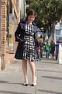 Black-eva-franco-dress-white-guess-heels