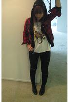 Zara - jacket - t-shirt - Tripp NYC jeans - boots