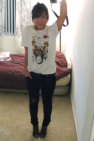 t-shirt - Tripp NYC jeans - Dolce Vita shoes