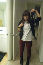 Zara jacket - Brass Monkey t-shirt - Forever 21 pants - boots - seiko accessorie