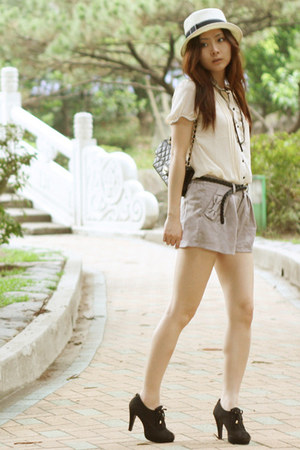 Chanel bag - Cambodia Street Market hat - H&M belt - Taiwan night market blouse