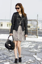 heather gray snake print Urban Outfitters dress - black Marc by Marc Jacobs bag