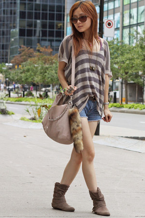 dark khaki Emu shoes - tan BCBGeneration bag - dark brown Miu Miu sunglasses