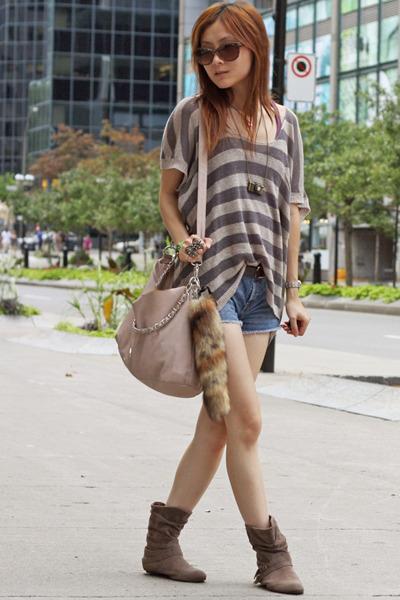 dark khaki Emu shoes - tan BCBGeneration bag - dark brown Miu Miu sunglasses