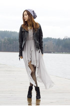 black Vince Camuto boots - silver Sheinside dress