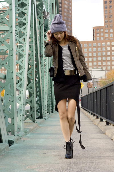 black Alexander Wang shoes - dark khaki Marciano jacket