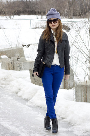 J Brand jeans - blue ombre tip Alexander Wang boots - Mexx blouse