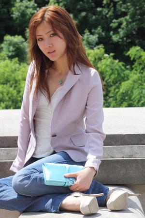 aquamarine clutch bvlgari bag - sky blue skinny jeans rock and republic jeans