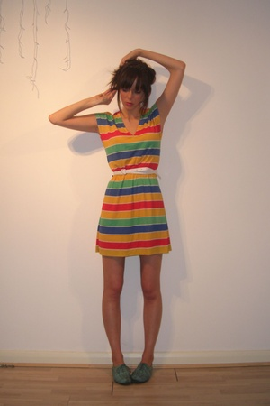 vintage dress - Topshop shoes -  belt