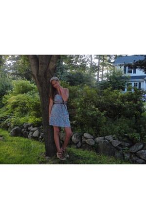 floral dress American Eagle dress - leather American Eagle belt