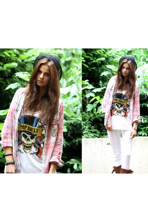 Pop Rocky t-shirt - H&M hat - Zara blouse