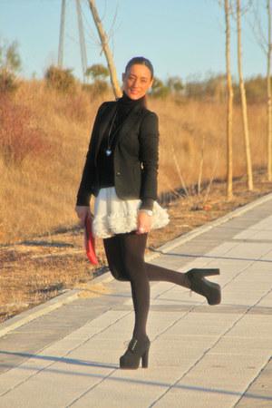 Top Shop skirt - red Malababa bag - Jeffrey Campbell heels