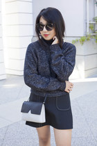 Zara sweater - Alexander Wang boots - vince bag - Karen Walker sunglasses