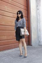 double v neck Zara sweater - Chloe bag - Steve Madden heels