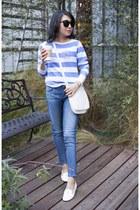 Wildfox sweatshirt - AG jeans - coach bag - Karen Walker sunglasses