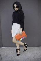 Rebecca Minkoff bag - madewell sweater - Karen Walker sunglasses