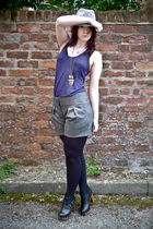 silver Topshop hat - asos vest - asos accessories - warehouse shorts - asos tigh