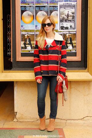 BB Dakota jacket - Aldo boots - Old Navy jeans - Rebecca Minkoff bag