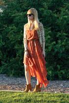 leopard Forever 21 cardigan - qualheim Aldo boots - star print gojanecom dress