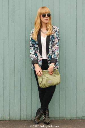 floral LC Lauren Conrad blazer - skinny Dear John Denim jeans