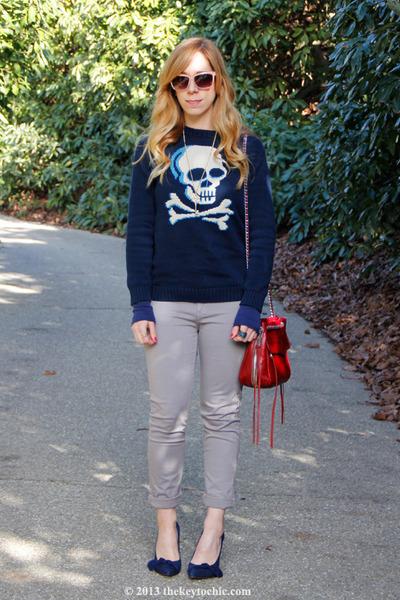 circo sweater - rag & bone jeans - Rebecca Minkoff bag - Sole Society pumps