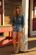 MinkPink shorts - Zara shirt - Mossimo bag