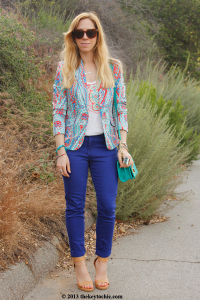 cotton on jeans - embroidered merona top - lucite ombré Glaze heels