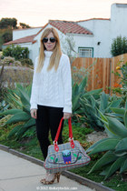 H&M sweater - Cheap Monday jeans - owl paul & joe for target bag