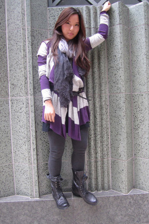 Barneys sweater - Steve Madden boots - James Perse shirt - BCBGMAXAZRIA scarf