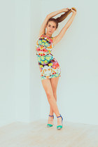 Sheinside dress - colorblock Zara heels