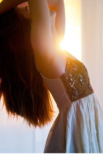 gold beaded One Teaspoon dress