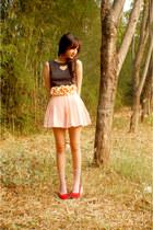 light pink skirt - dark gray worn as top Cloth Inc dress