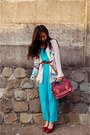 Hot-pink-retro-scarf-yellow-thrifted-scarf-brick-red-vintage-pull-bear-bag