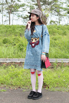 black spiked creepers new look shoes - sky blue oversized denim choiescom dress