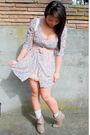 Beige-vintage-purse-brown-boots-pink-h-m-belt-blue-target-dress-beige-in