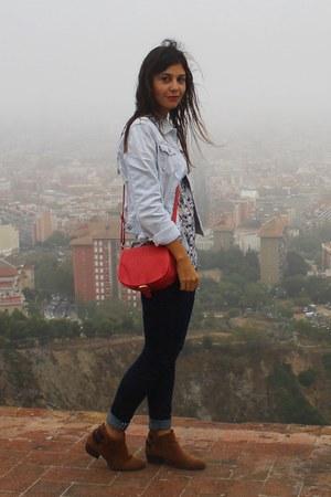 Primark boots - Zara jeans - Stradivarius blouse