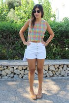 vintage bag - vintage shorts - firmoo sunglasses - vintage top