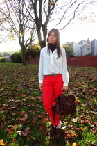 Forever 21 pants - new look shoes - BLANCO shirt - BLANCO bag - Primark belt