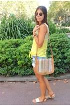 Bosanova bag - Zara shorts - asos sunglasses - Bershka t-shirt - H&M bracelet