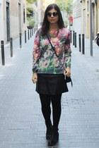 Zara sweatshirt - Bosanova boots - firmoo sunglasses